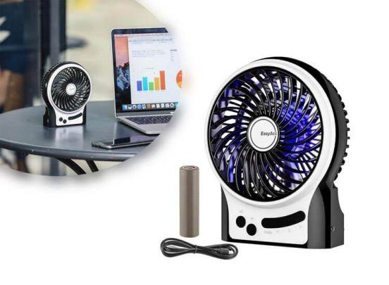 USB Tafelventilator - Met oplaadbare accu