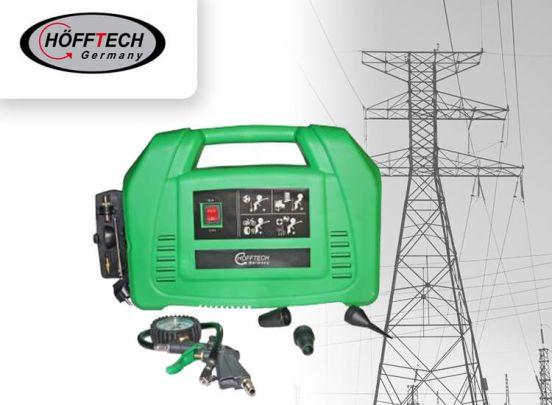 Hofftech Olievrije Mini-Compressor 220V 1100W - 8 Bar 115 PSI 180 L/MIN