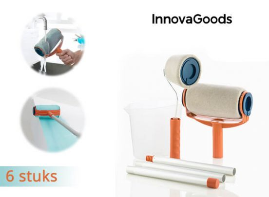 InnovaGoods Set Navulbare Anti-drup Verfrollers (6 Stuks)