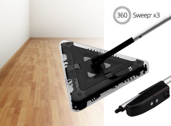 triangular electric sweeper Omnidomo 360 Sweep 7,2 V Black