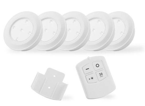 Led Lovers Puck light Led wireless 5 pack - 5 draadloze lampjes met afstandsbediening