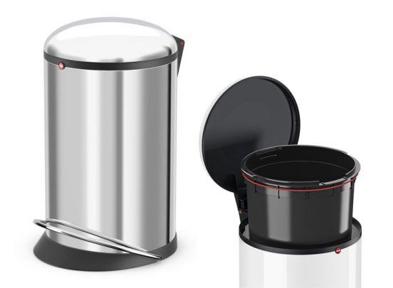 Hailo pedaalemmer harmony 20 Liter - RVS - Zilver