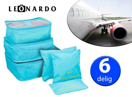 Leonardo Opbergset - 6 Delig - Ideaal Voor In Koffers - Meerdere Kleuren
