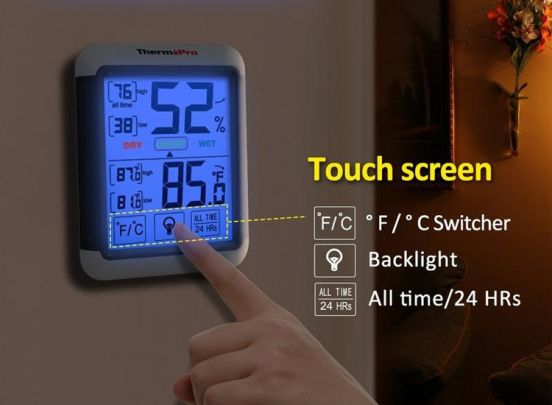 Thermo Pro TP55 hygrometer - Digitale temperatuur- en vochtigheidsmeter