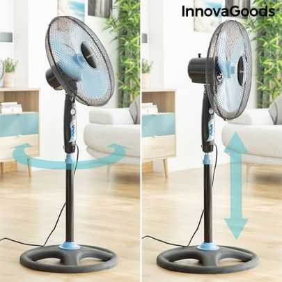 InnovaGoods Ventilator - 40 cm - 50W Zwart blauw