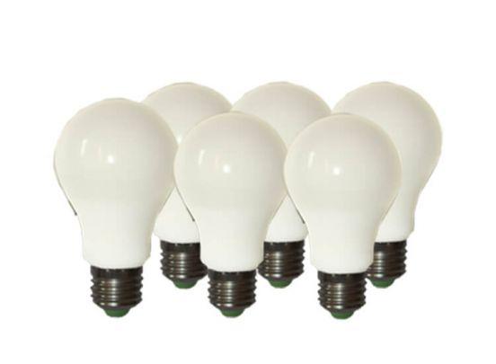 Quintezz set van 6 dimbare led-lampen E27- Warm-witte verlichting