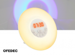 Fedec Wake-Up Light - RGB Lichtwekker - FM Radio - Wit/RVS