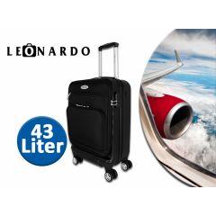 Leonardo Trolley - 43 liter - Koffer met telescopisch handvat