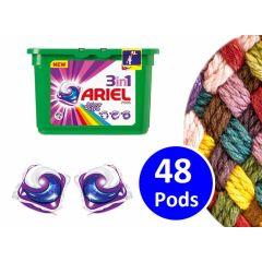 Ariel 3-in-1 pods color - 48 pods - Voor een stralend schone was