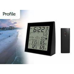 Profile weerstation - met weersvoorspelling - binnen en buiten temperatuur