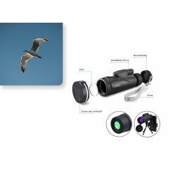 Mini Telescoop - Verrekijker met Film-optie via Smartphone - Tri-pod Stand - Met zoom - 12x50