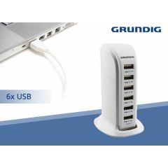Grundig USB voedingsadapter 6A - Nooit meer een tekort aan oplaadpunten