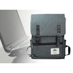 Canvas Classic grijze rugtas 35 liter - Met speciaal laptopvak