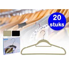 Vilten kledinghangers - Nooit meer kleding die van de hanger afvalt - 20 stuks