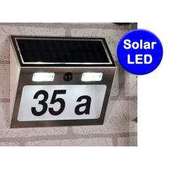 Solar huisnummer als lamp - Met bewegingsmelder