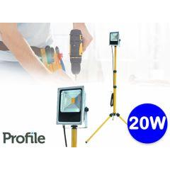 Profile led-straler op inklapbaar statief - Voor binnen en buiten