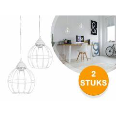 Lifa Living metalen hanglamp Lund - Witte trendy hanglamp