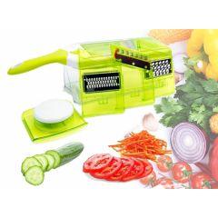 Multifunctionele fruit- en groentesnijder met opvangbak - Makkelijk snijden en raspen