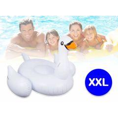 Opblaasbaar luchtbed zwaan XXL - Eindeloos kinderplezier