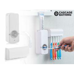 Paste+ Dispenser voor Tandpasta met Tandenborstelhouder