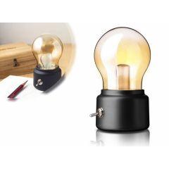 Retro tafellampje - Oplaadbaar dus geen snoer nodig
