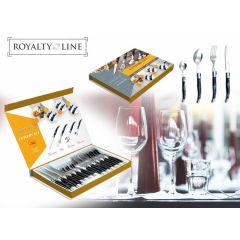 Royalty Line - 24-delige bestekset in zwart-zilver