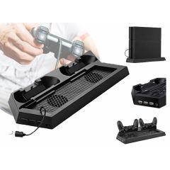 Charging stand voor de PS4 Slim Line- Oplaadstation met dual ventilator voor je Playstation 4