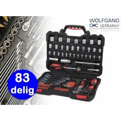 Wolfgang gereedschapset van hoogwaardig staal - 83-delig