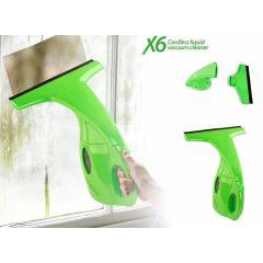 X6 Cordless Liquid Vacuum Cleaner - Voor spiegels, ruiten en ramen