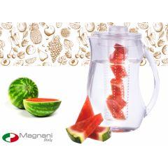 Magnani waterkan met filter - voeg fruit, groenten of kruiden toe via de infuser