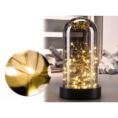 Glazen Stolp met Led Verlichting - Deco - 20 cm - Spiegelglas