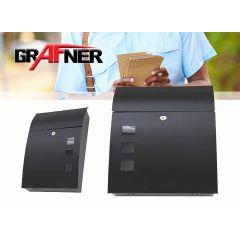 Grafner - Zwarte rvs brievenbus met mooi design