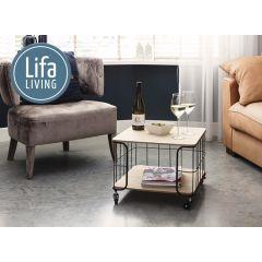 Lifa Living Salontafel op Wieltjes - Industriële Look van IJzer & MDF