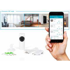 Smartwares wifi bewakingscamera met 180° lens - Altijd weten wat er in je huis gebeurt