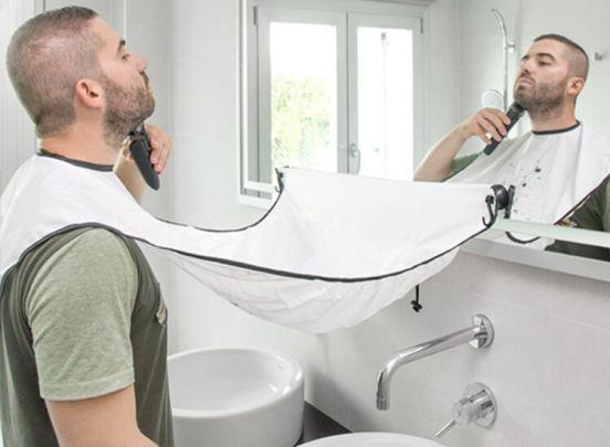 Beard Bib scheerdoek met zuignappen - Scheerdoek die je (baard)haar opvangt