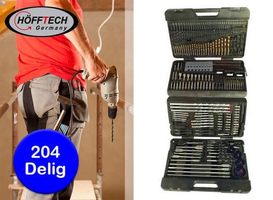 Höfftech professionele Boor- & Bitset - 204 delig - Met handige opbergkoffer
