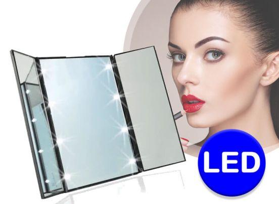 8 LED Make-Up Spiegel