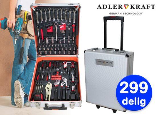 Adler kraft aluminium gereedschapstrolley - 299-delig