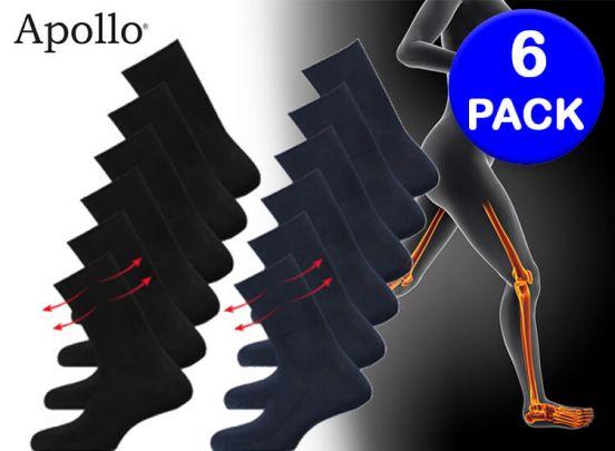 Apollo Anti-press sokken; helpt bij een verstoorde de bloedsomloop - 6 Paar