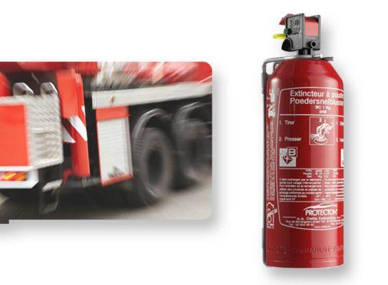 Compacte 1kg brandblusser geschikt voor type A, B, C branden