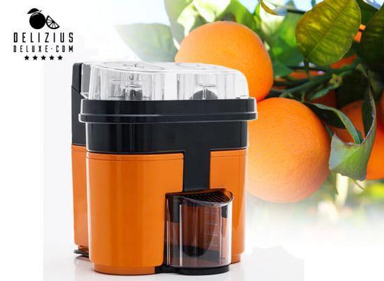 Electric Juicer Delizius Deluxe Double Orange Juicer 0,5 L 90W Orange Black