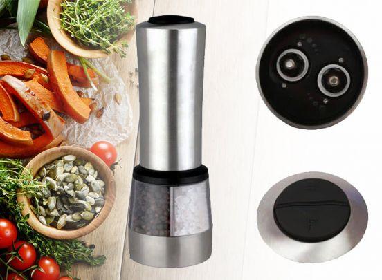 Elektrische zout- en pepermolen - Bediening met één druk op de knop