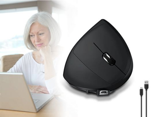 Ergonomische verticale draadloze muis - Voorkomt en verhelpt RSI-klachten
