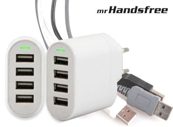 4-poorts USB oplader - Voordelig en handig duopack