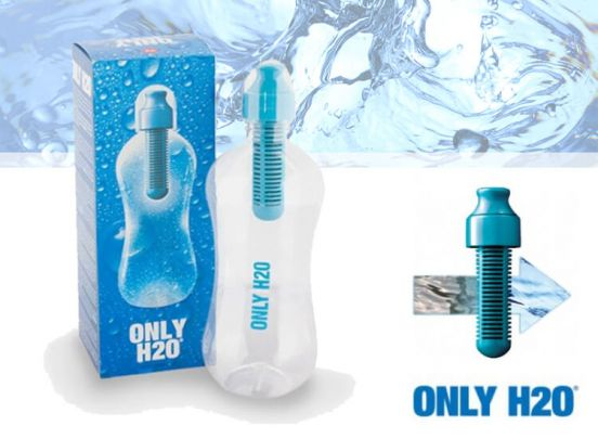 Only H2O fles met carbonfilter - Drink gefilterd en gezond water