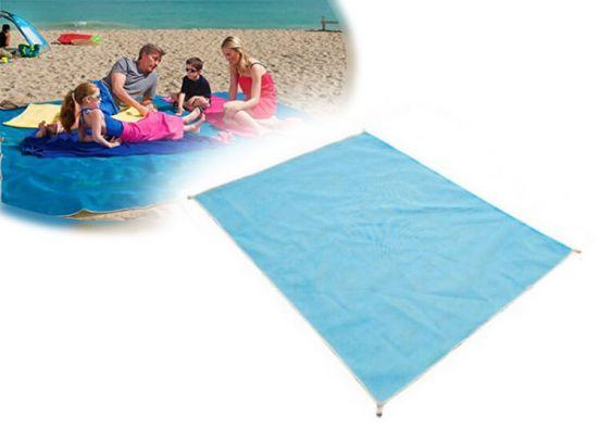 sand free beach mat-Blauw