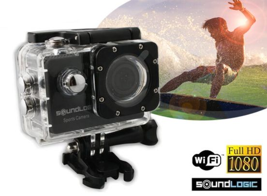Soundlogic Action Pro 1080P Ultra HD Camera - waterproof - zwart