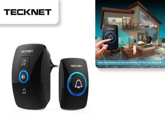 TecknetPlug-In Doorbell - 1 Bellpush, 1 Ringer WA 658 - Black - EU