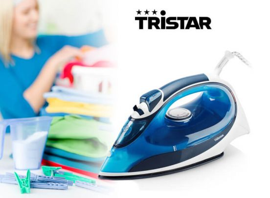 Tristar ST8148PR 0,25 L 2200W Wit en Blauw Stoomstrijkijzer