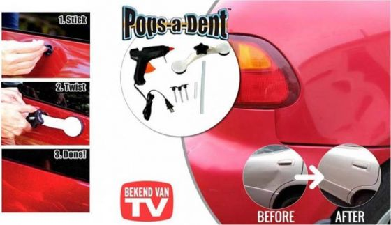 Pops-A-Dent; Verwijder zelf eenvoudig deuken